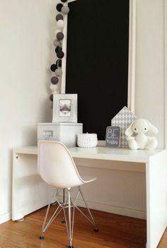 Workspace Inspiration, Room Inspiration, Cotton Ball Lights, Kids Room Design, Kid Spaces, Baby Decor, Kids House, Kids Furniture, Girl Room