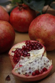 Pomegranate Lore: It was a pomegranate, five seeds, that held Persephone in the Underworld. Because she ate them, she was obliged to return each year, for six months.