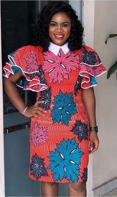 african dress styles Ankara Dress Designs Latest Fashion Styles for this week African Shirt Dress, African Dresses For Kids, African Wear Dresses, African Fashion Ankara, Latest African Fashion Dresses, African Print Fashion, African Attire, Latest Fashion, Short Ankara Dresses