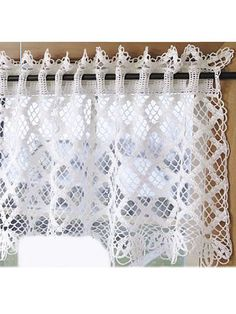 Crochet for the Home - Crochet Decor Patterns - Diamond Lace Valance