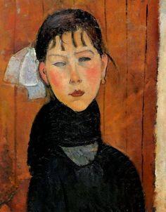 Amedeo Modigliani Marie, figlia del popolo, 1918 Kunstmuseum Basel, Basel, Switzerland 50 x 62 cm Olio su tela