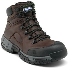 Michelin Mens Hydroedge Hitop Steel Toe Work Boots Brown Leather 7 M >>> Continue to the product at the image link. Brown Leather Boots, Brown Boots, Leather Men, Fashion Boots, Sneakers Fashion, Women's Sneakers, Sneakers Women, Mens Fashion, Fashion Tips
