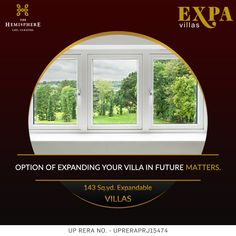 THE HEMISPHERE PRESENTS GOLF VILLA Expand your #lifestyle with Exclusive Expandable EXPA #VILLAS. Each unit is 143 sq.yd.  in size. #Expa_Villas are located in heart of #Greater_Noida, just opposite to #metro #station.