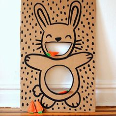 Easter bunny bean bag toss (and other Easter craft ideas!)