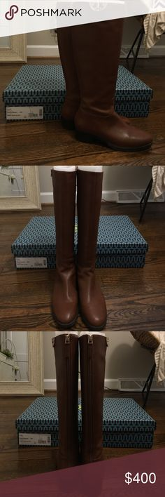 Tory Burch Penny brown Sidney Boot Worn one time! Comes in box and dust bag. 6.5 Tory Burch Shoes Winter & Rain Boots