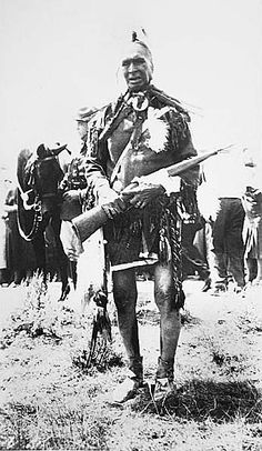 White Man Runs Him, one of Custer's four scouts - Photographer not known - No date.