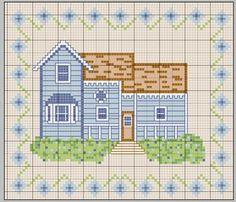 maison - house - point de croix - cross stitch - Blog : http://broderiemimie44.canalblog.com/