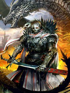 Artist: Kekai Kotaki aka Kekai - Title: Cadaver Knight Grumbach - Card: Cadaver Knight Grumbach