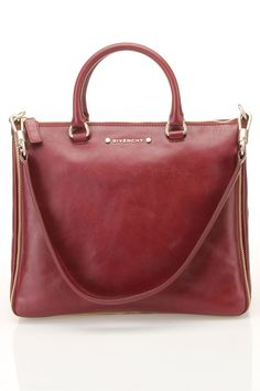 Givenchy Medium Tote In Burgundy