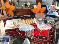 see through chair and table #longbeachantiquemarket