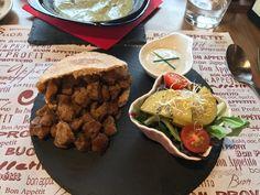 Kebab vegetarian #vegan #vegetarien un regal ! Bon profite ! Bon appetit !