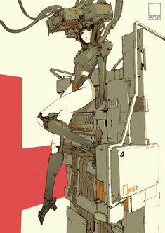 cyborg girl02, tan di on ArtStation at https://www.artstation.com/artwork/eAQ3P