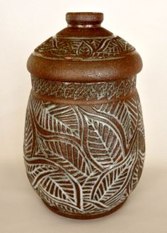 Wheel-thrown Lidded Jar/Canister/Urn for Cookies, Sugar, Flour, Treasures by NorthWind Pottery $79