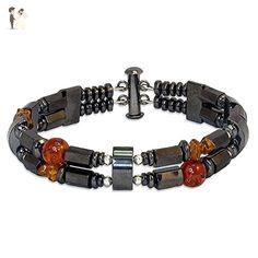 Uriel, Archangel of Wisdom - Amber & Hematite Men's Bracelet - Father's Day Sale Price - FREE Shipping - Wedding bracelets (*Amazon Partner-Link)