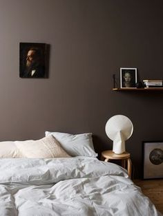 45 Dark And Moody Bedroom Decorating Ideas 33 Calming Bedroom Colors, Bedroom Color Schemes, Colour Schemes, Color Combos, Modern Bedroom, Bedroom Decor, Calm Bedroom, Bedroom Small, Minimalist Bedroom