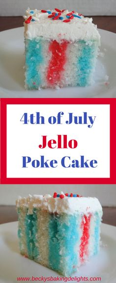 This colorful jello poke cake is a great addition for a Summer dessert. Simple to make and taste great.