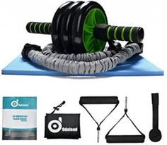 Odoland AB Wheel Roller Kit AB Roller Pro with Resistant Band,Knee Pad,Anti-Slip Handles,Storage Bag and Training Program - Perfect Abdominal Core Carver Fitness Workout for Abs Roller Pro, Ab Roller Workout, Ab Workout Men, Workout Fitness, Great Ab Workouts, Lower Ab Workouts, At Home Workouts, Best Home Workout Equipment, Exercises