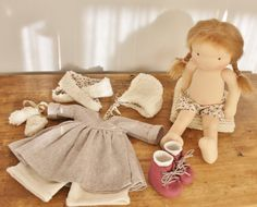 155'' / 40cm. tall Classic Waldorf Doll Roeli by MonPilou on Etsy