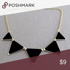 Black triangle necklace Black triangle neckace Jewelry Necklaces