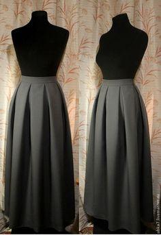 Юбка в пол со складками - разноцветный,юбка,юбка в пол,юбка длинная,юбка повседневная