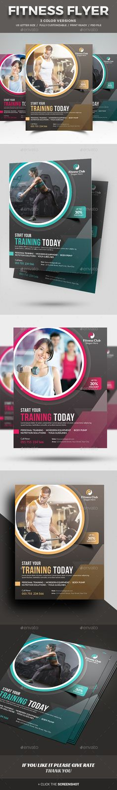 Fitness Flyer Template PSD