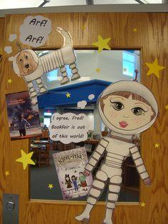 Book Fair door decorations.