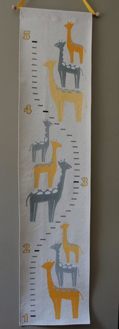 Ready to Ship  Growth Chart  Stacked Smiling Giraffes Handpainted by FortunatelyCrafted $60.00 at Fortunately Crafted on Etsy! ** If you found me on Pinterest, get 10% off your order with coupon code PINNERS10 **  https://www.etsy.com/listing/232036235/ready-to-ship-growth-chart-stacked?ref=shop_home_feat_1