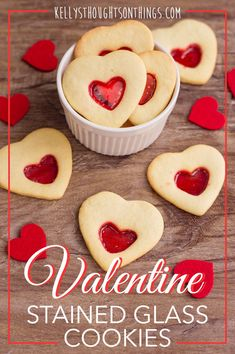 These Valentine Stained Glass Cookies are a melt in your mouth sugar cookie and beautifully decorated with Jolly Rancher candies. Valentines Food, Valentine Cookies, Valentine Ideas, Christmas Cookies, Heart Shaped Cookies, Heart Cookies, Cereal Recipes, Cookie Recipes, Candy Recipes