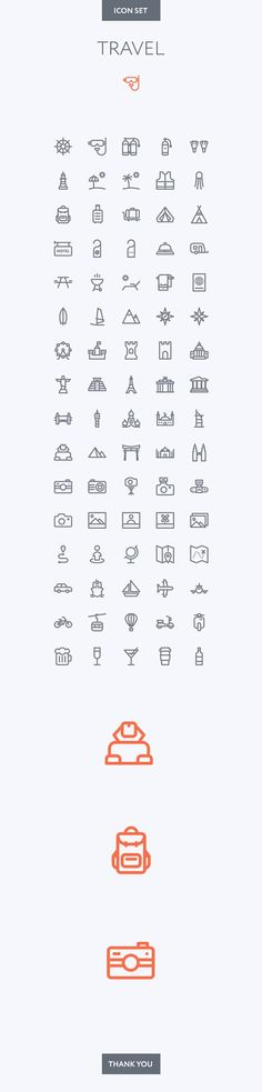 Travel icon set on Behance: