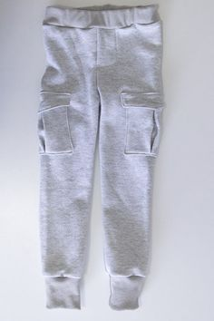 Finished pants - Sew an on trend pair of slim sweatpants for boys with this FREE sewing pattern from Melly Sews and Blank Slate Patterns