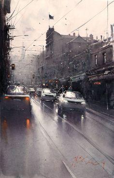 Joseph Zbukvic, 1952 | Watercolour Cityscape painter | Tutt'Art@ | Pittura…