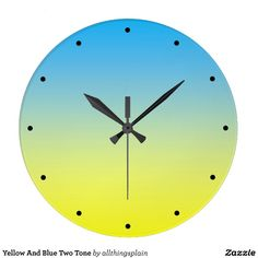 Yellow And Blue Two Tone Wallclock