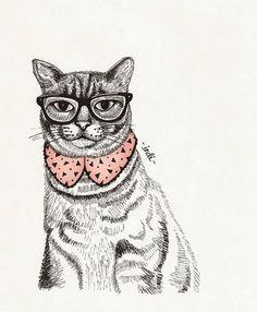 ilustraciones hipster animales - Buscar con Google