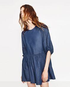 Image 1 of SHORT FULL DRESS from Zara