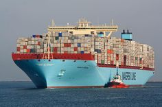 Merete Maersk spotted at Rotterdam - pic by Markus