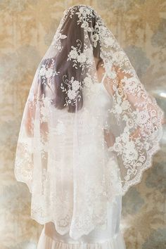 all lace bridal veil