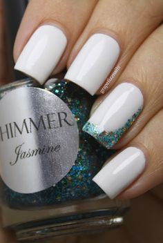 Shimmer Jasmine - grape fizz nails - simple but very cute!