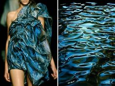 Liliya Hudyakova - Smilarities between Haute Couture and Landscape - Yiqing Yin F/W & Sea Surface Fantasy Fashion, Fashion Art, High Fashion, Fashion Beauty, Fashion Show, Space Fashion, Fashion Trends, Moda Floral, Yiqing Yin