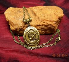 Nautical Life Ring with Swallow Bird Locket by mythicaljewelry, $19.99