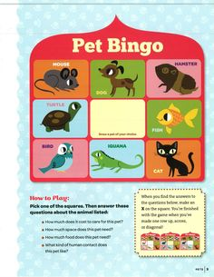 A World of Girls Skill Building Badge - Pets: Step 1 (con't)
