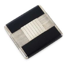 JEAN FOUQUET (1899-1984)  A Lacquered Silver Cigarette Case, circa 1925  3½ x 3 in. (9 x 7.5 cm.)  stamped JEAN FOUQUET 22401 and 232 and with workshop and French hallmarks http://www.christies.com/lotfinder/lot/jean-fouquet-a-lacquered-silver-cigarette-case-4845155-details.aspx?intObjectID=4845155