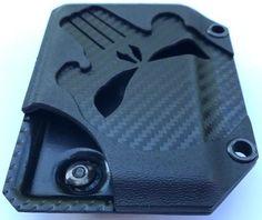Midnight DARK PUNISHER EDITION Kydex Wallet With Money Clip Carbon Fiber