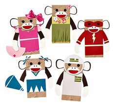 Craft Sock Monkeys ... fun and cute for party craft!