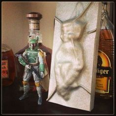 Elf on the shelf frozen in carbonite!!!!