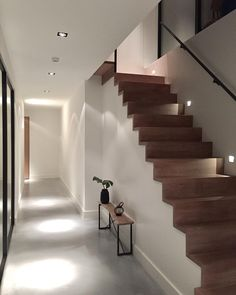 All Details You Need to Know About Home Decoration - Modern Interior Stairs, Interior Architecture, Interior Design, Modern Staircase, Staircase Design, Stair Design, House Stairs, Bedroom Flooring, Home And Living