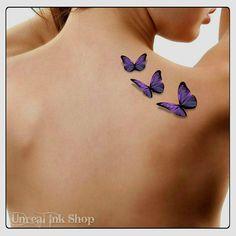 Tatouage temporaire papillons 3D faux tatouage papillon mince Durable réaliste de vol
