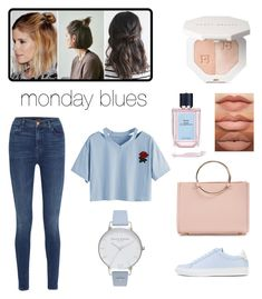 """""""monday blues"""" by audreypoe on Polyvore featuring J Brand, Givenchy, Future Glory Co., Olivia Burton and Prada"""