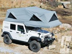 Camping In Luxury Jk With Tent Out