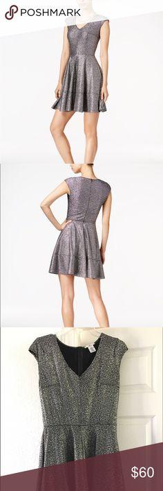 Bar III Metallic Fit & Flare Dress http://m.macys.com/shop/product/bar-iii-metallic-fit-flare-dress-only-at-macys?ID=3389233&CategoryID=54641 Bar III Dresses Mini