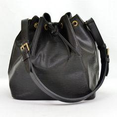 Louis Vuitton Black Epi Petit Noe Bag Cheap Designer Bags, Online Bags, Bucket Bag, Louis Vuitton, Accessories, Collection, Shopping, Black